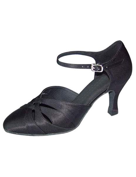 Milanoo Zapatos de bailes latinos de saten color liso estilo moderno