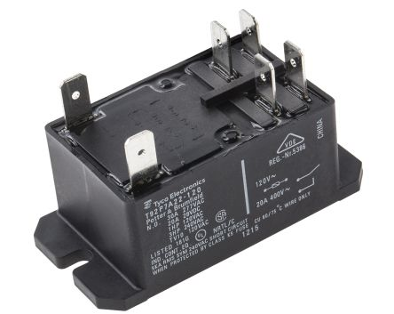 TE Connectivity , 120V ac Coil Non-Latching Relay DPNO, 30A Switching Current Flange Mount, 2 Pole