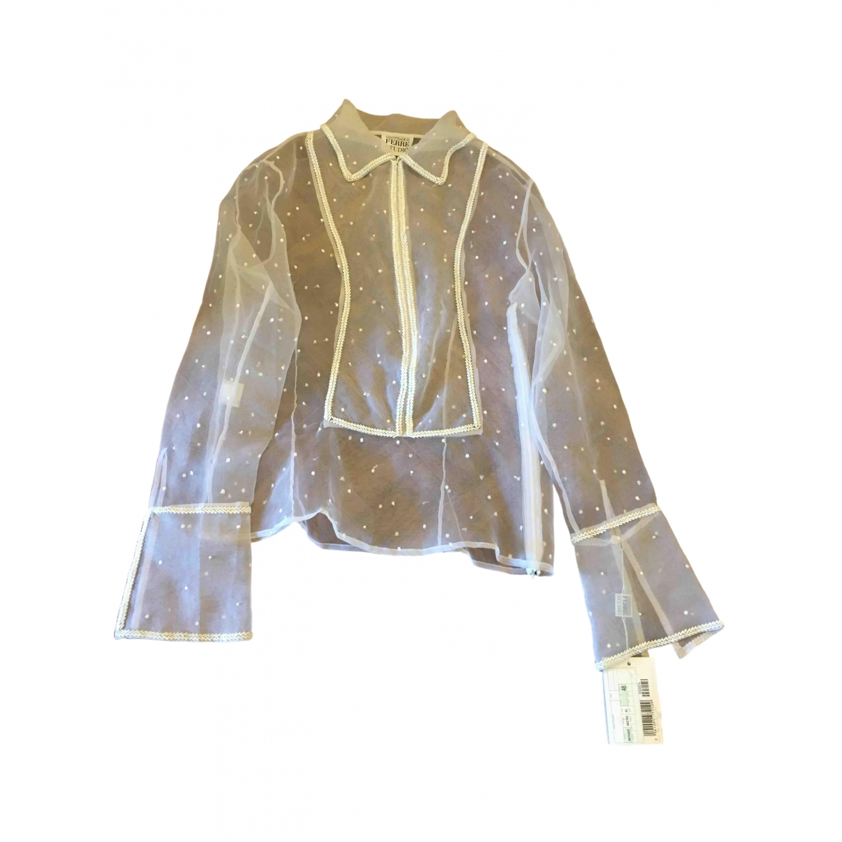 Gianfranco Ferre \N Top in  Weiss Polyester
