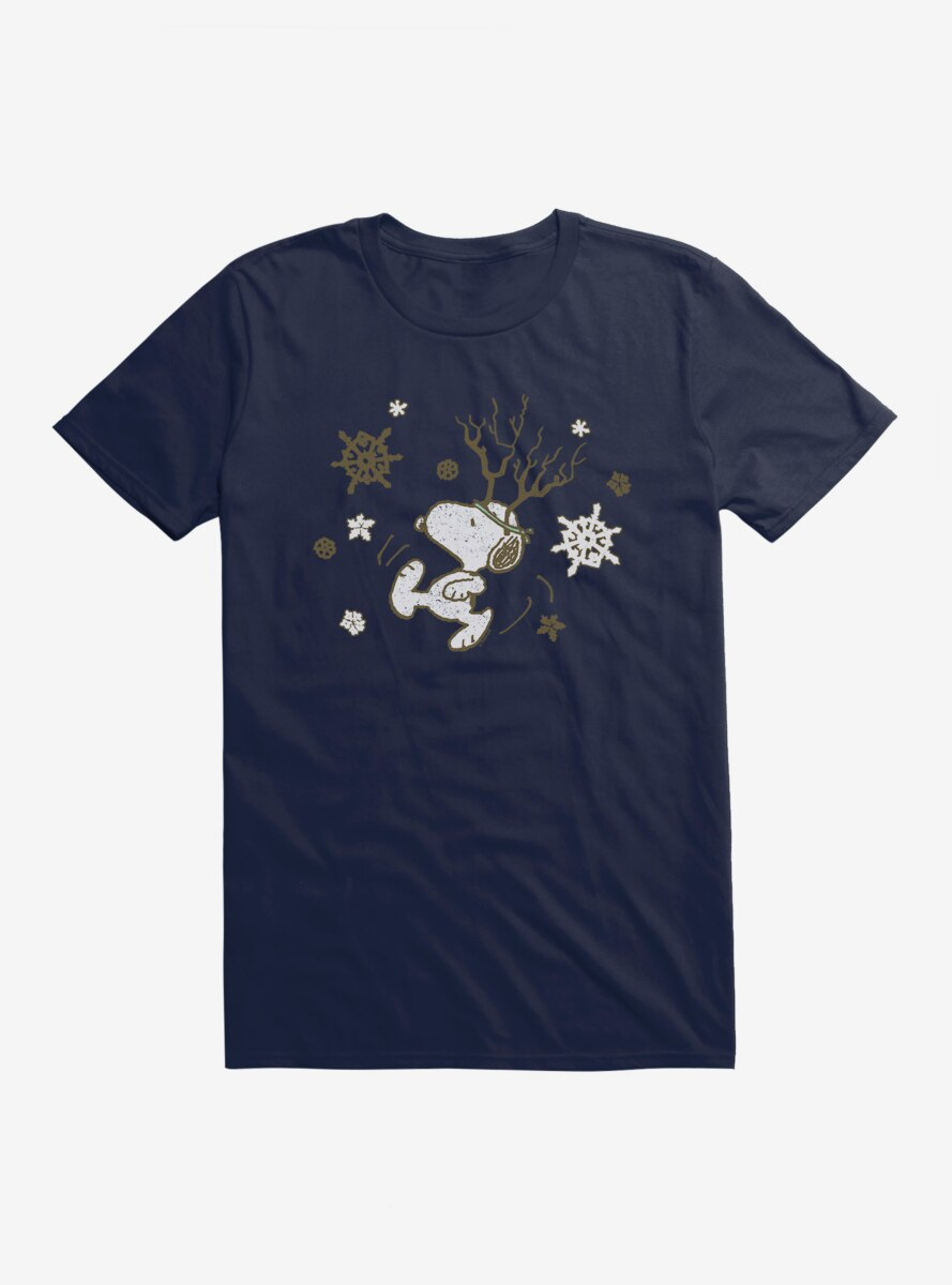 Peanuts Frosty Christmas Snoopy Snowflakes T-Shirt