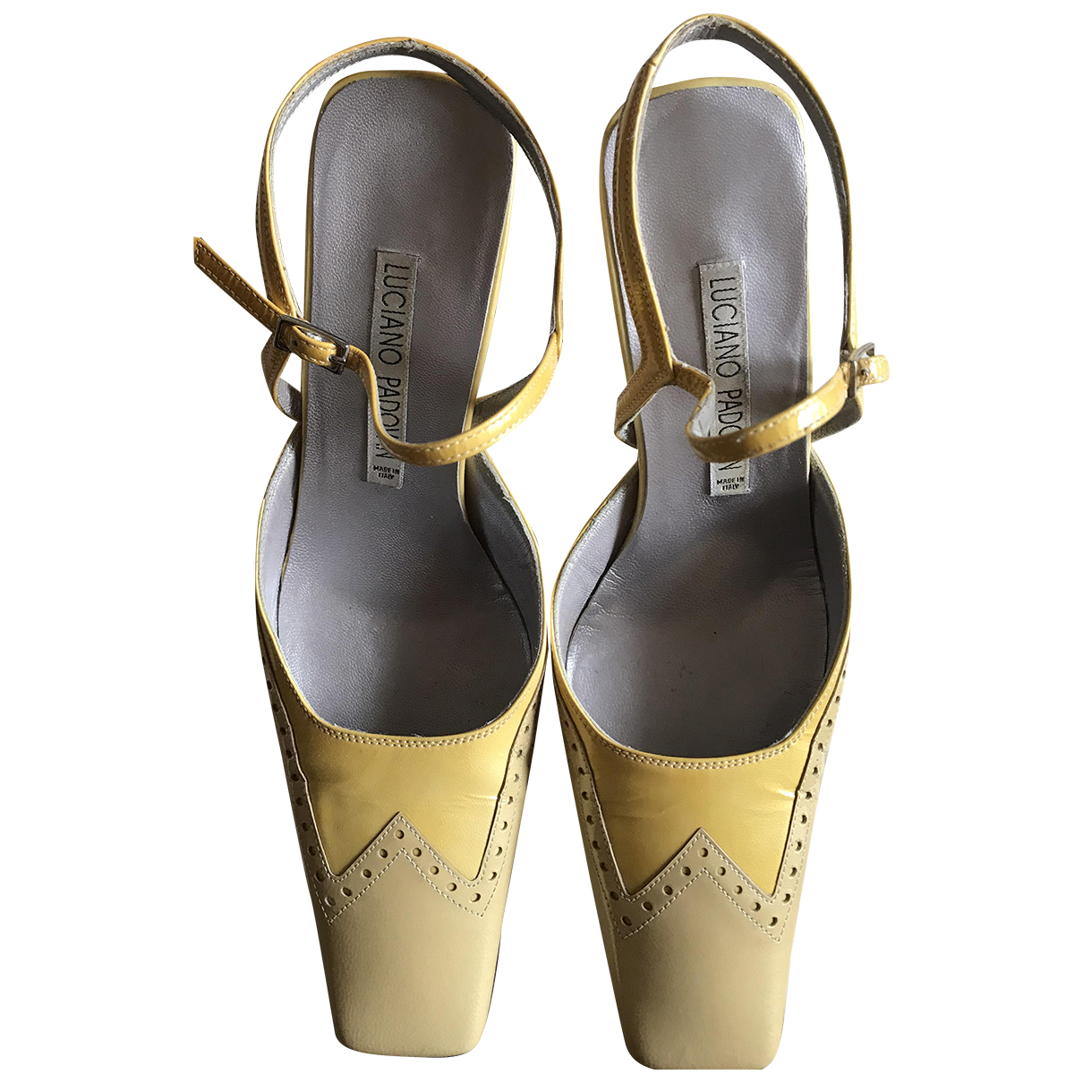 Luciano Padovan \N Pumps in  Gold Leder