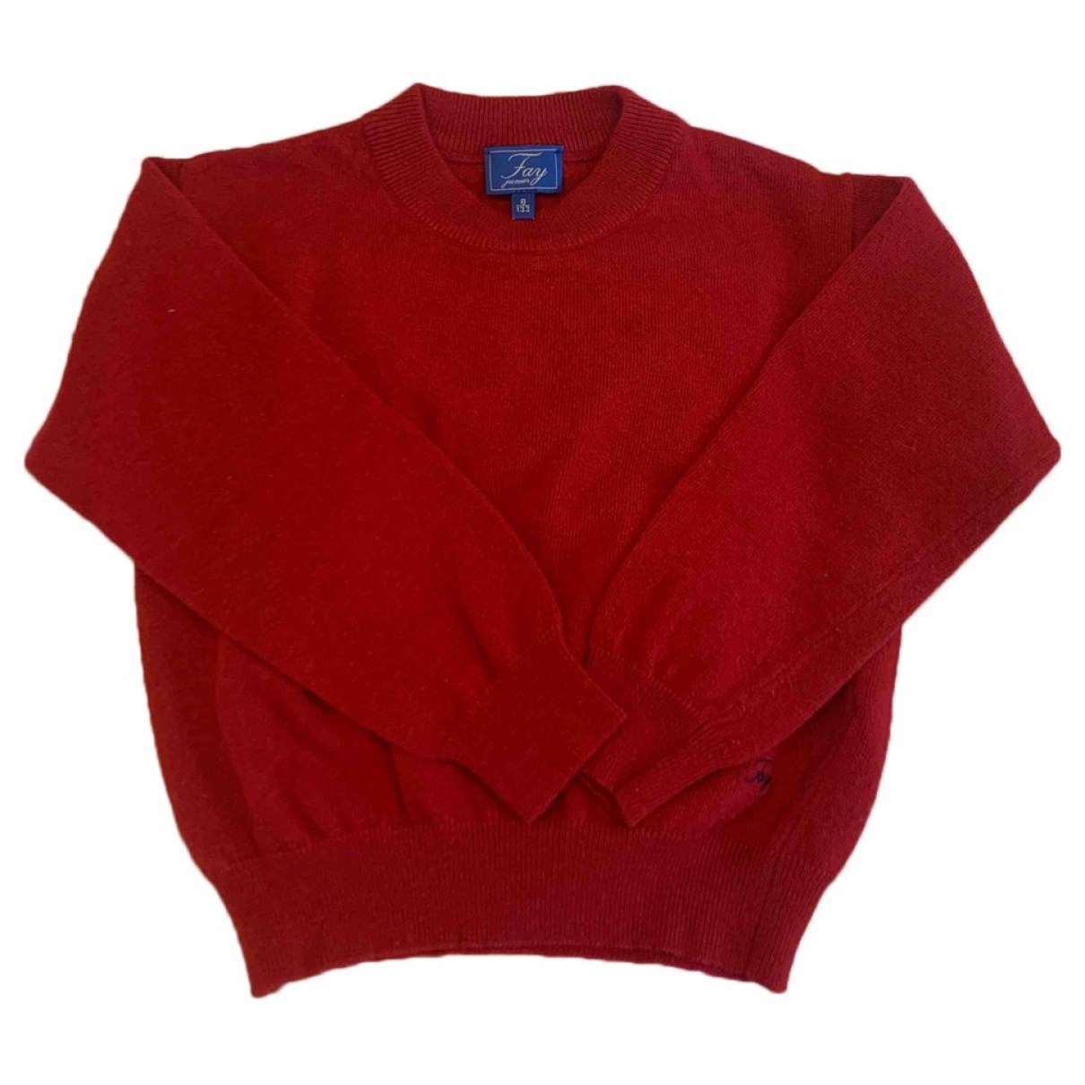 Fay \N Pullover, StrickJacke in  Rot Wolle