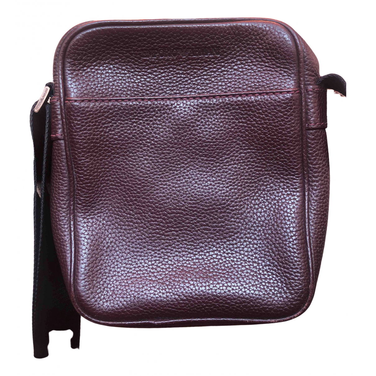 Emporio Armani \N Brown Leather Small bag, wallet & cases for Men \N