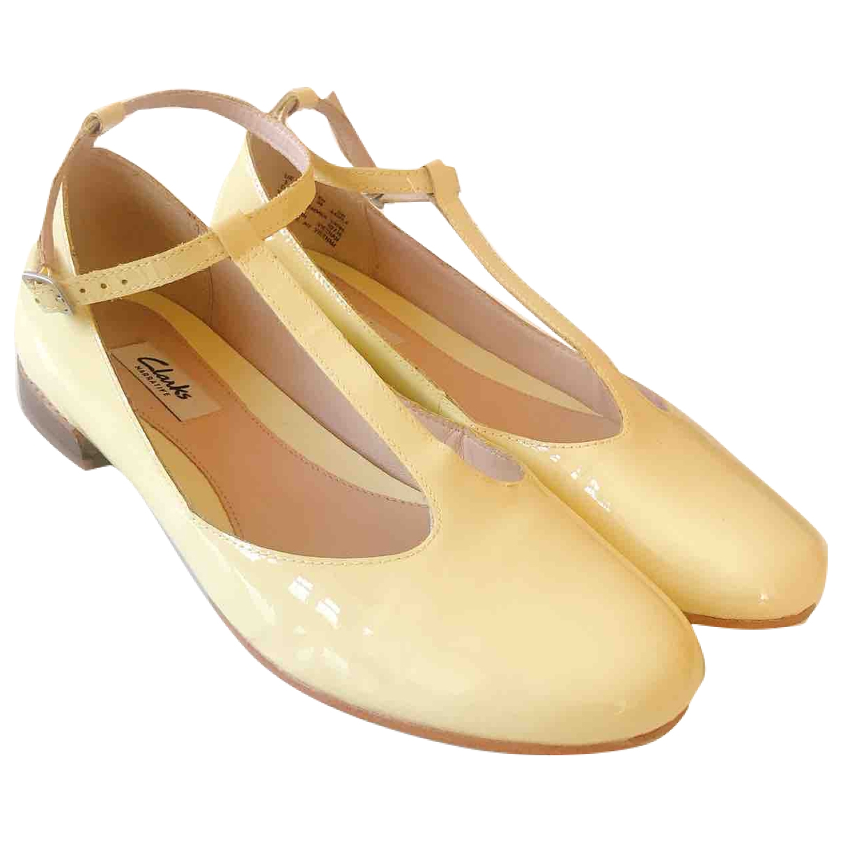 Clarks \N Ballerinas in  Gelb Lackleder