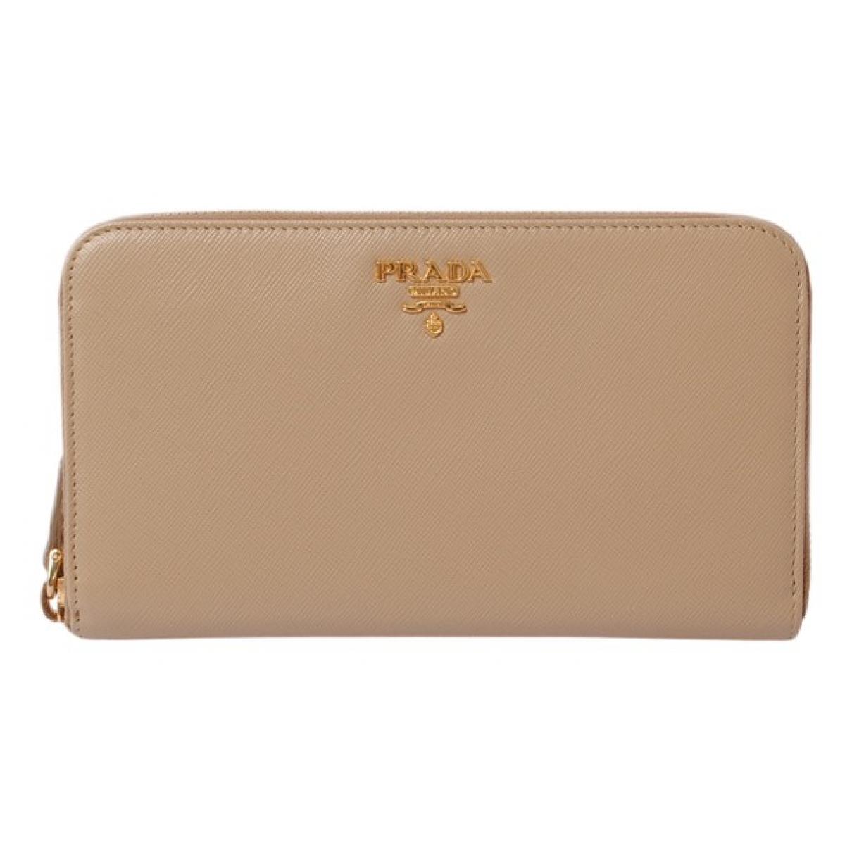 Prada N Beige Leather wallet for Women N