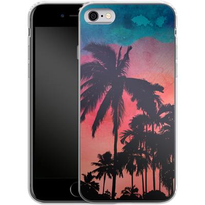 Apple iPhone 6 Silikon Handyhuelle - Palm Trees at Sunset von Mark Ashkenazi