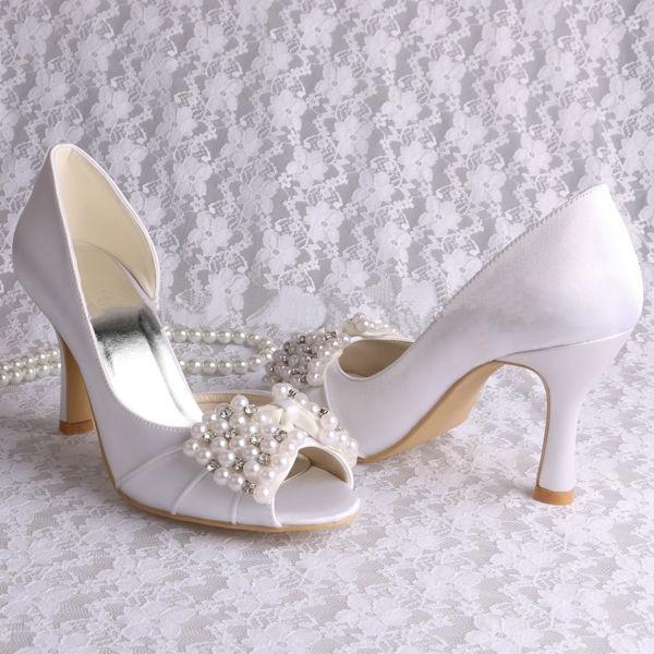 Ericdress Pretty Pearls High Heel Wedding Shoes