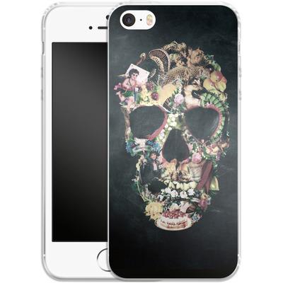 Apple iPhone 5 Silikon Handyhuelle - Vintage Skull von Ali Gulec