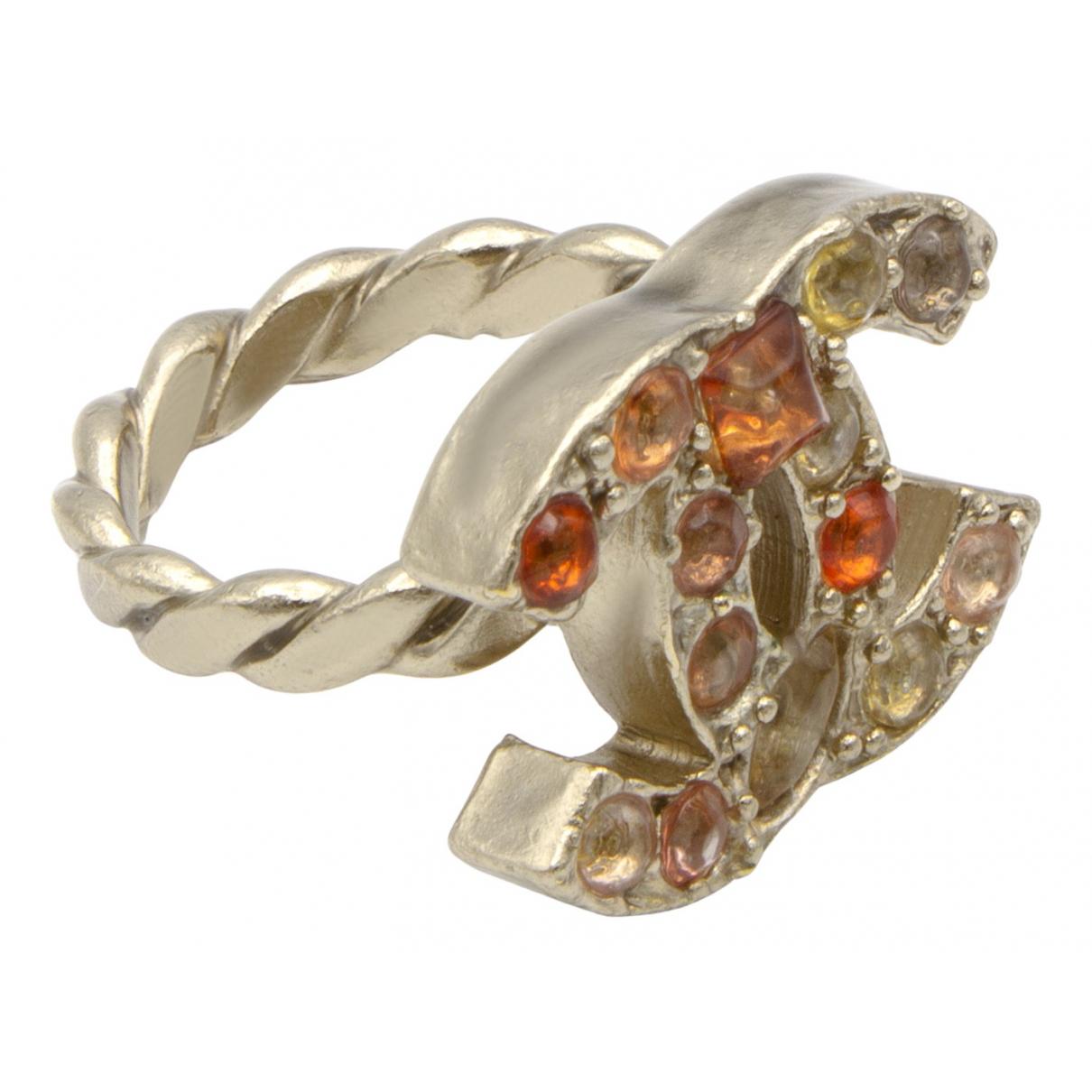 Chanel CC Silver Metal ring for Women 52 EU