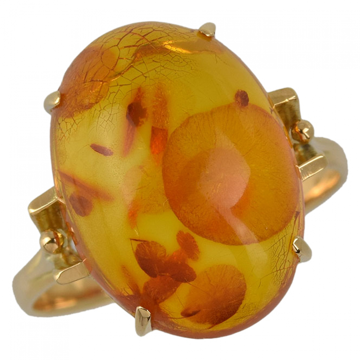Non Signe / Unsigned \N Ring in  Orange Gelbgold