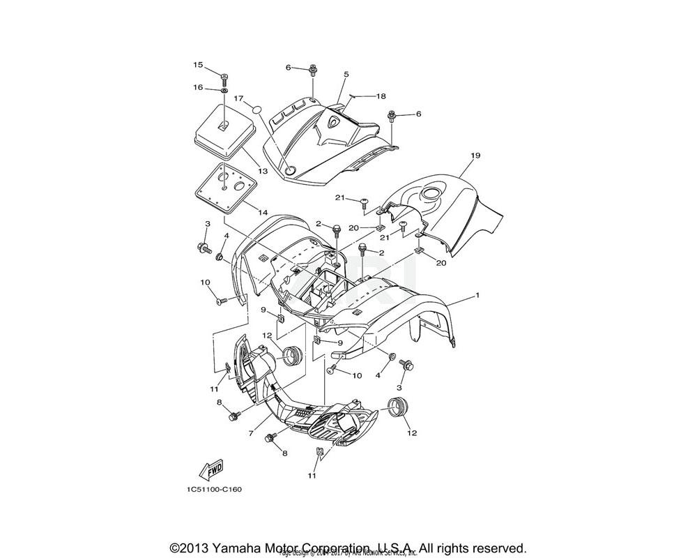 Yamaha OEM 3FA-14461-00-00 ELEMENT, AIR CLEANER 2