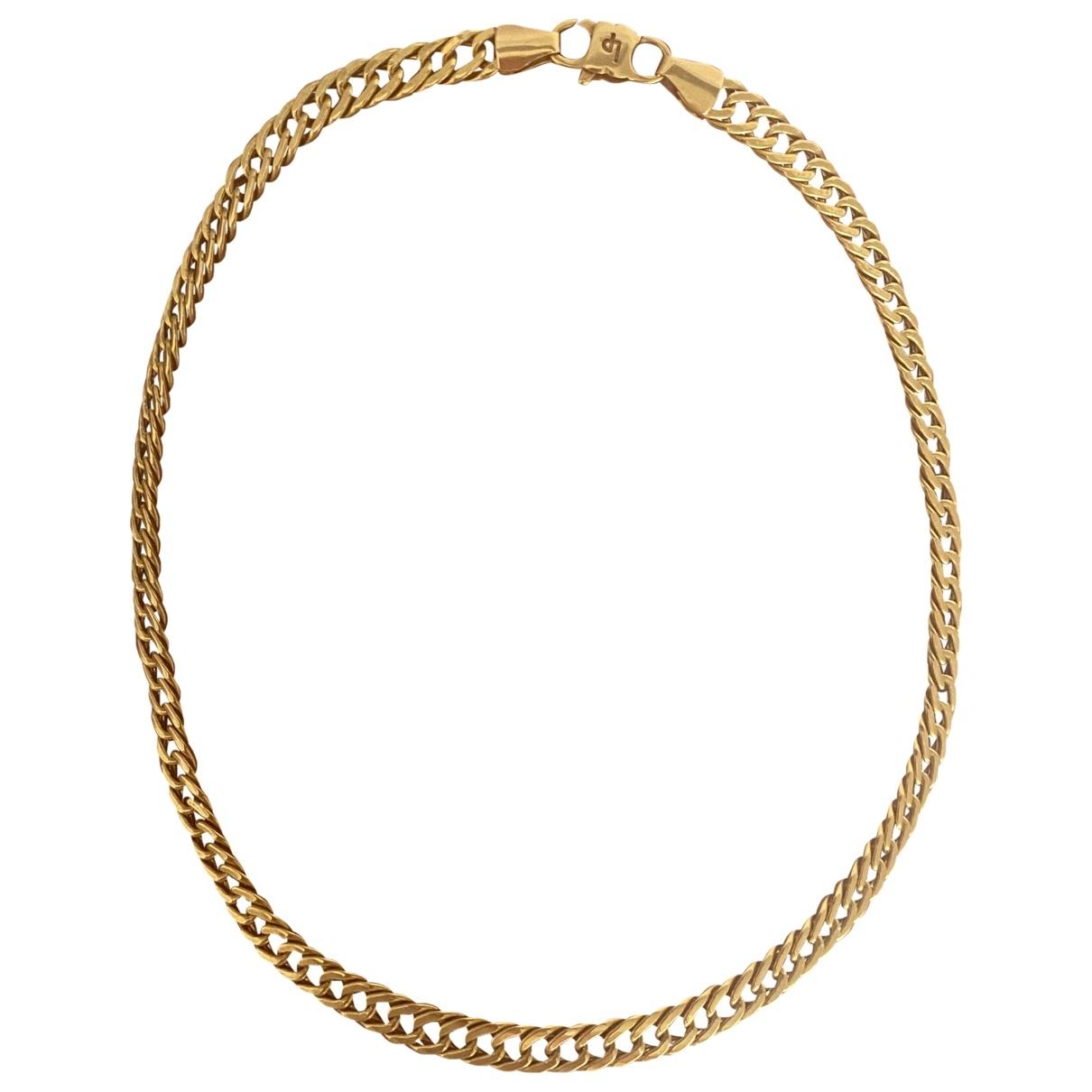 - Collier Chaines pour femme en or jaune