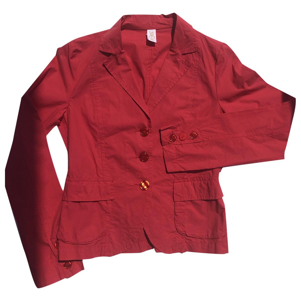 - Veste   pour femme en coton - rouge