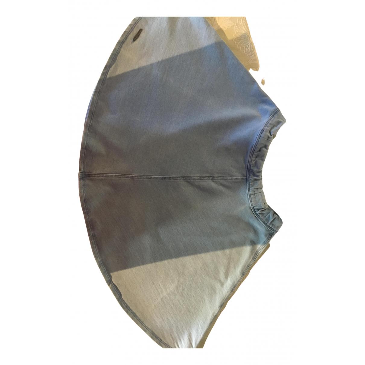 Abercrombie & Fitch - Jupe   pour femme en coton - bleu