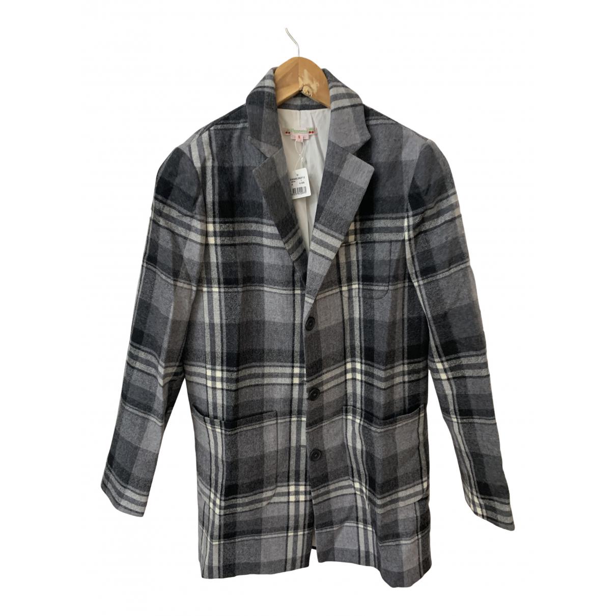 Bonpoint - Manteau   pour femme en laine - gris