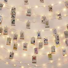 50pcs Bulb Photo Clip String Licht