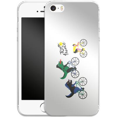 Apple iPhone 5 Silikon Handyhuelle - Monster Race von Le Tour de France