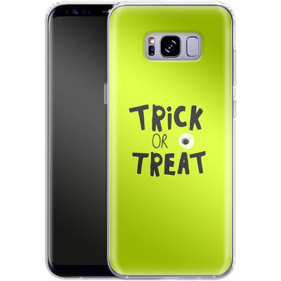 Samsung Galaxy S8 Plus Silikon Handyhuelle - Trick or Treat von caseable Designs
