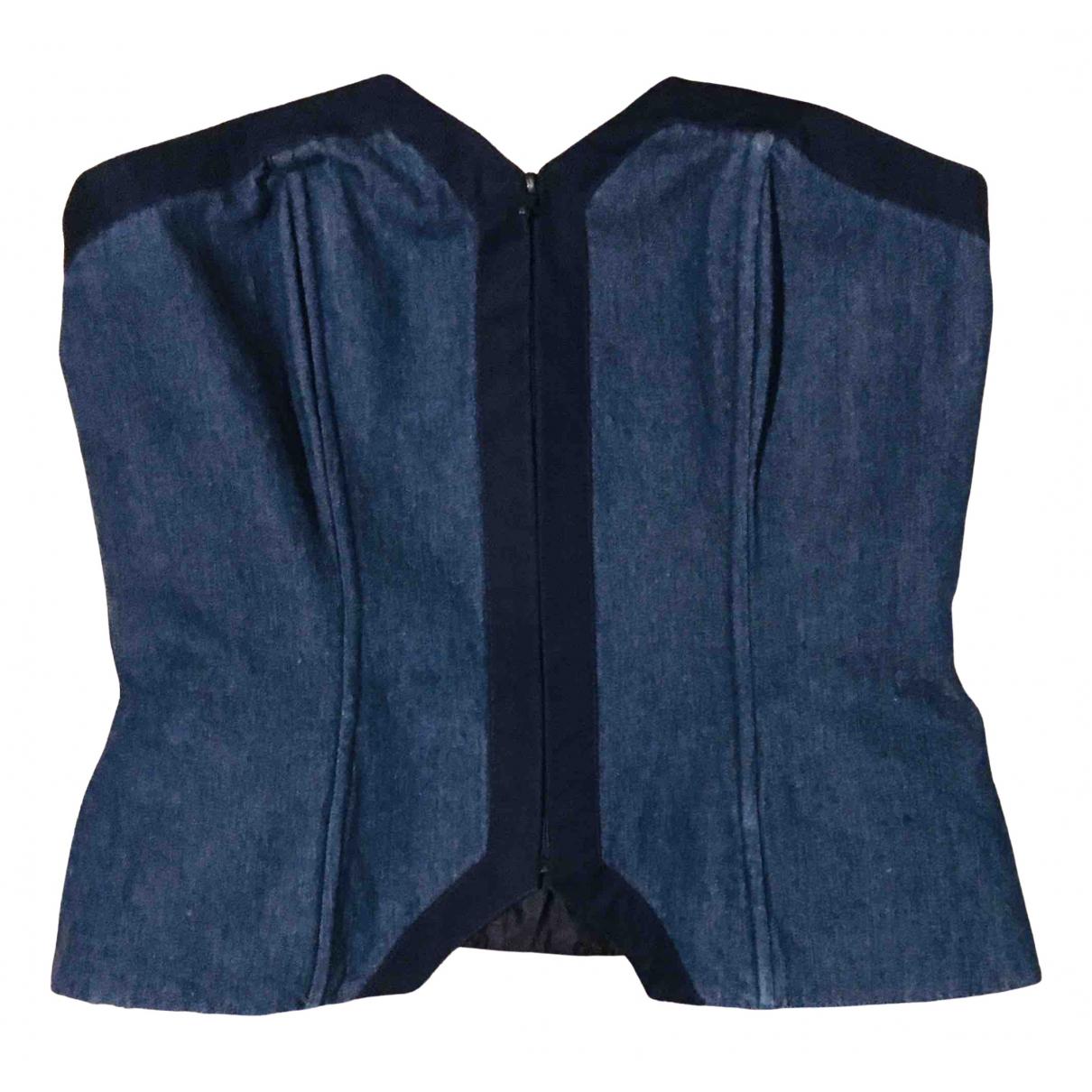 Guy Laroche - Top   pour femme en denim - bleu