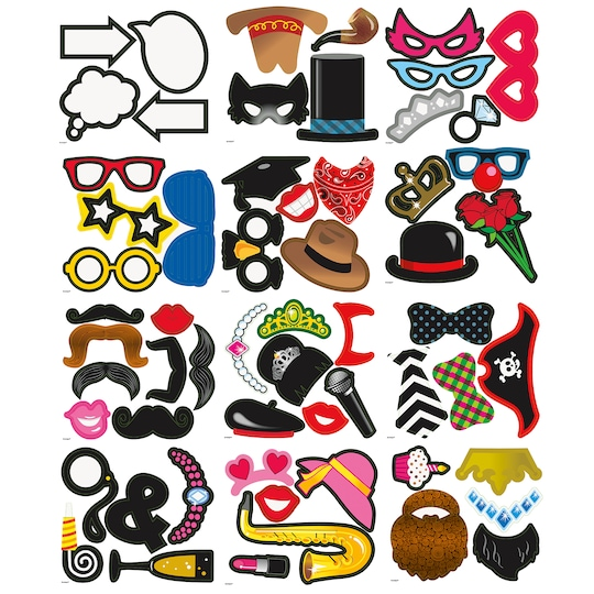 Photo Booth Props, Assorted 60Pc By Unique | Michaels®