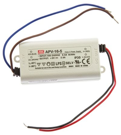 Mean Well Constant Voltage LED Driver 13W 5V