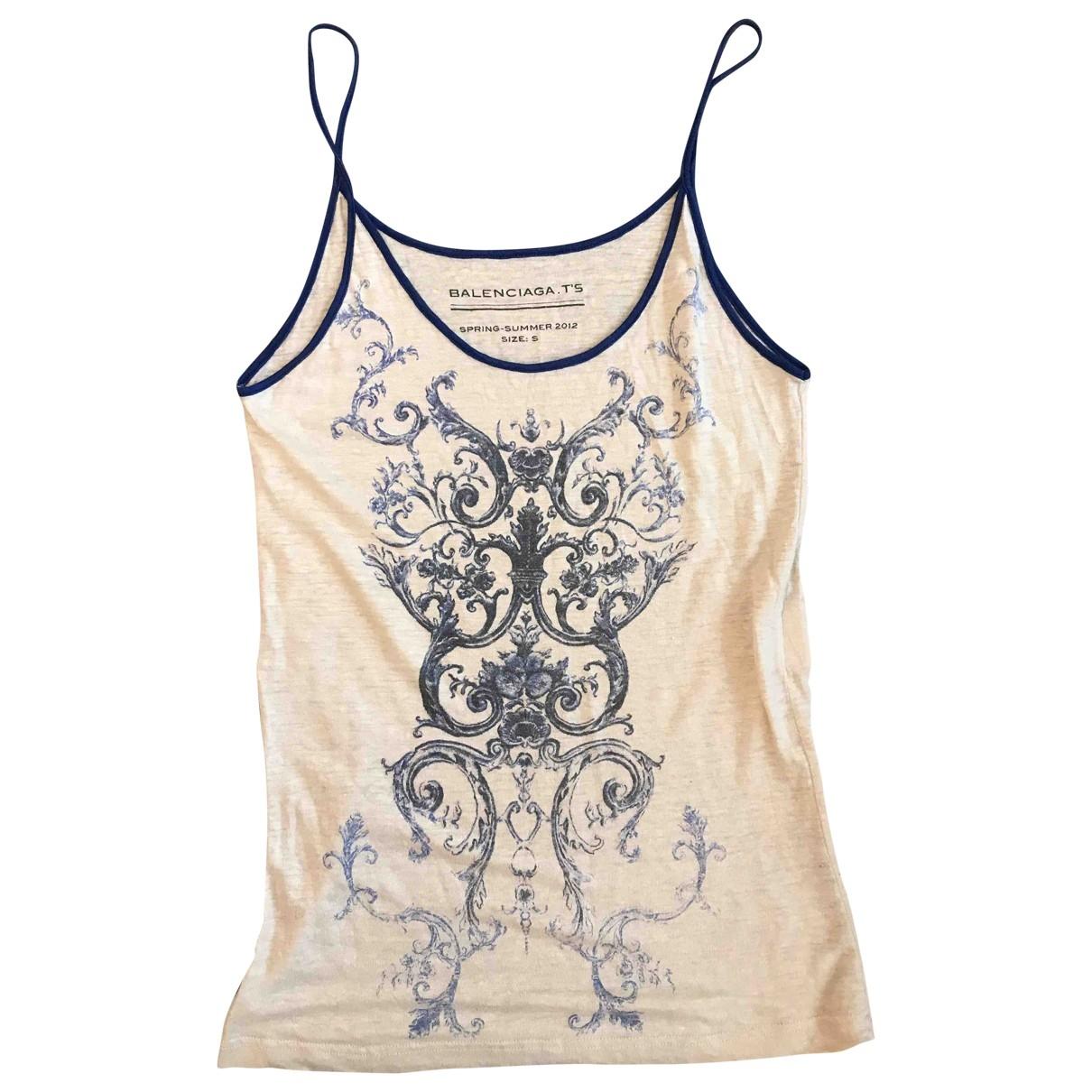 Balenciaga \N White Linen  top for Women S International