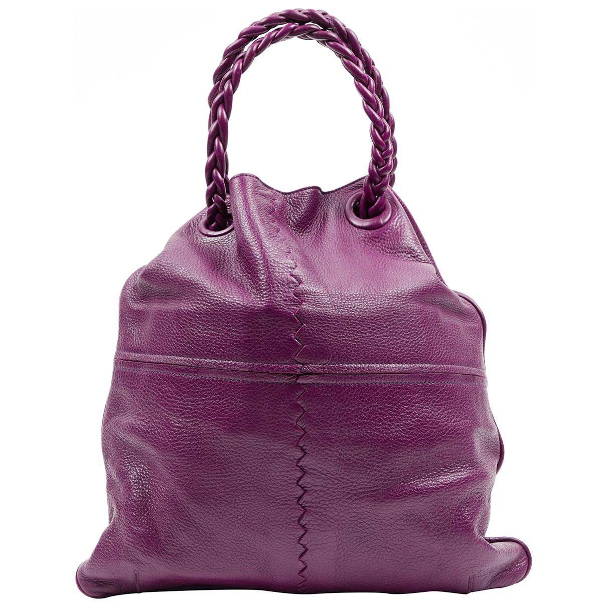 Bottega Veneta - Sac a main Arco pour femme en cuir - violet