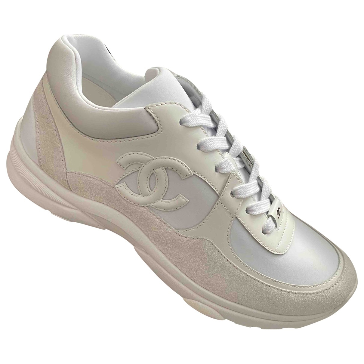 Chanel \N White Leather Trainers for Men 8 UK