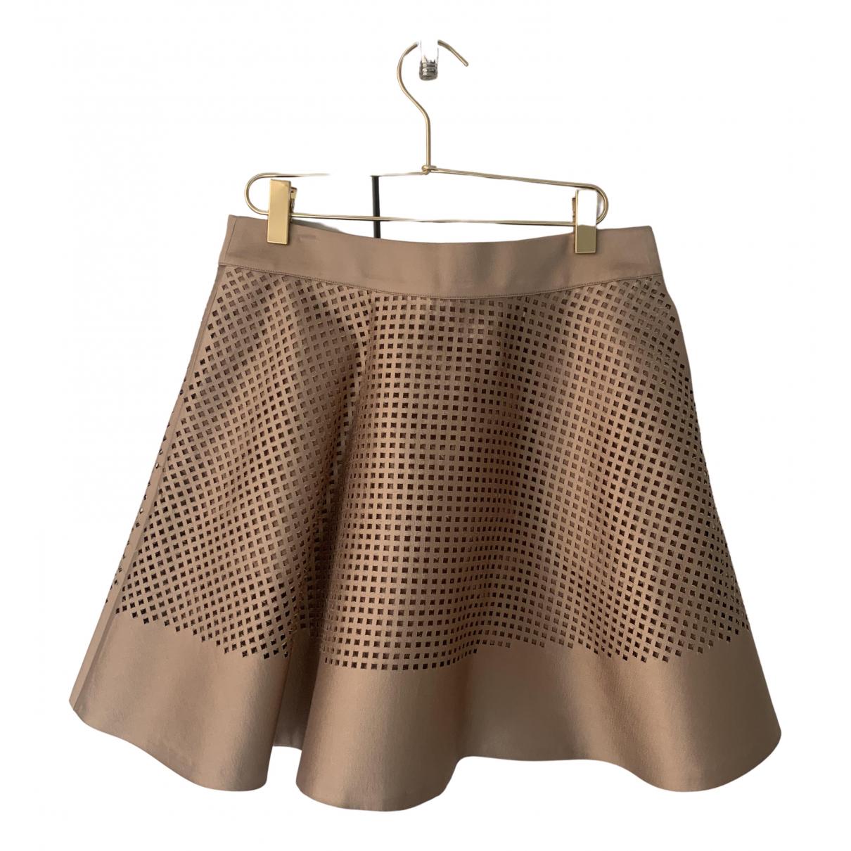Club Monaco N Camel Silk skirt for Women 4 US