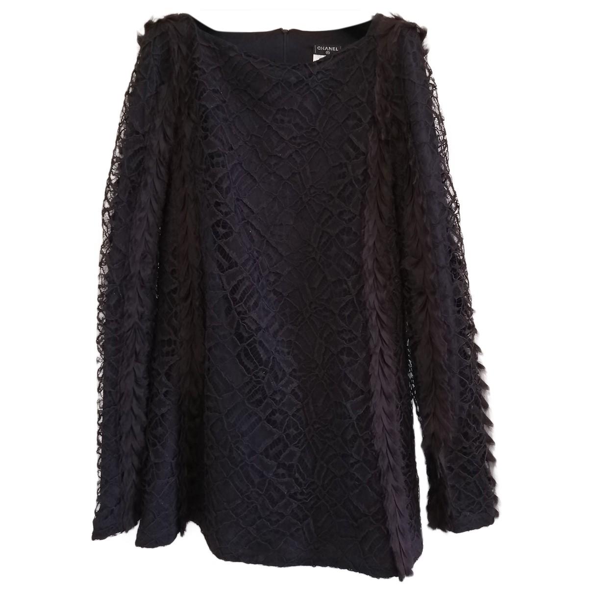 Chanel - Robe   pour femme en dentelle - violet