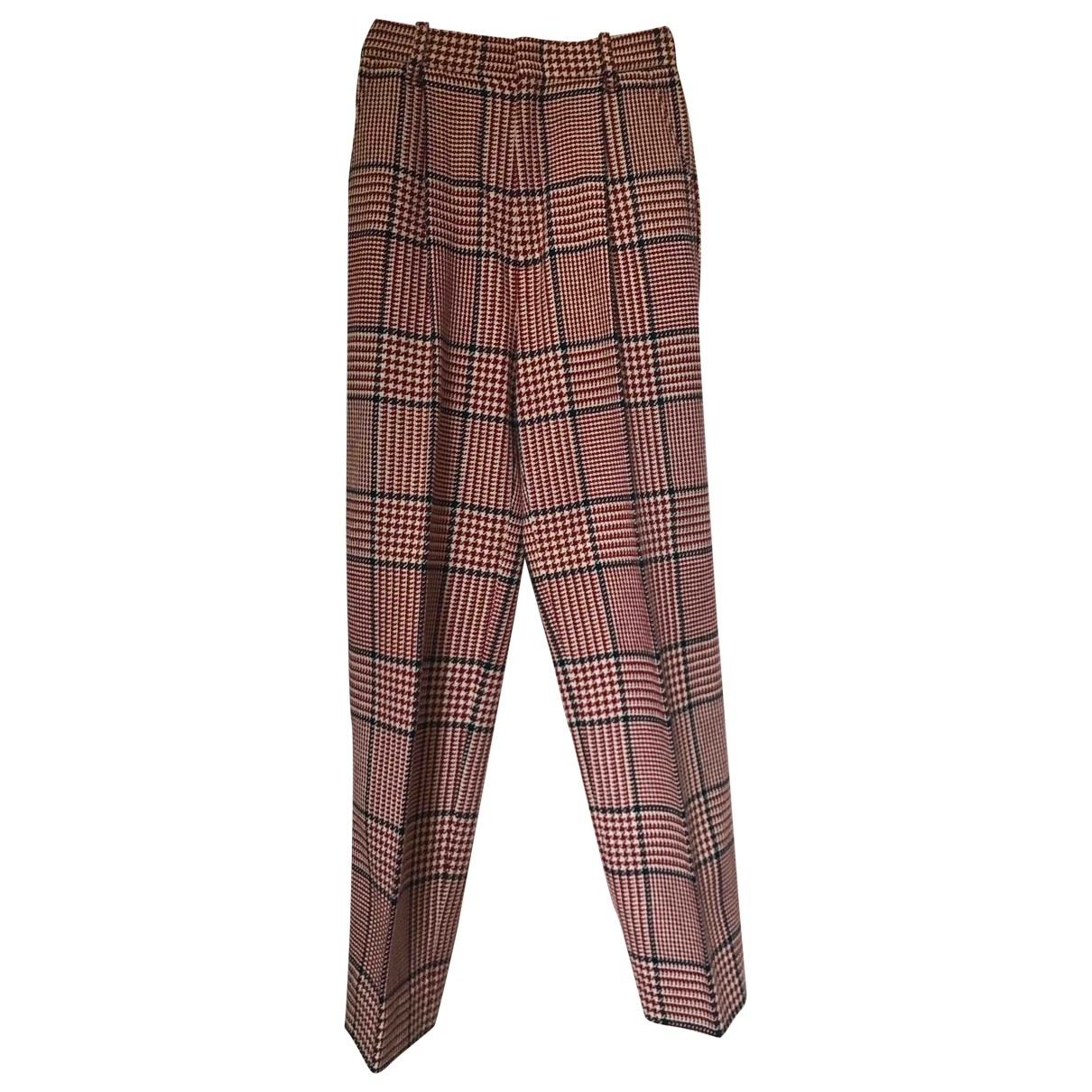 Gucci \N Red Wool Trousers for Women 36 IT