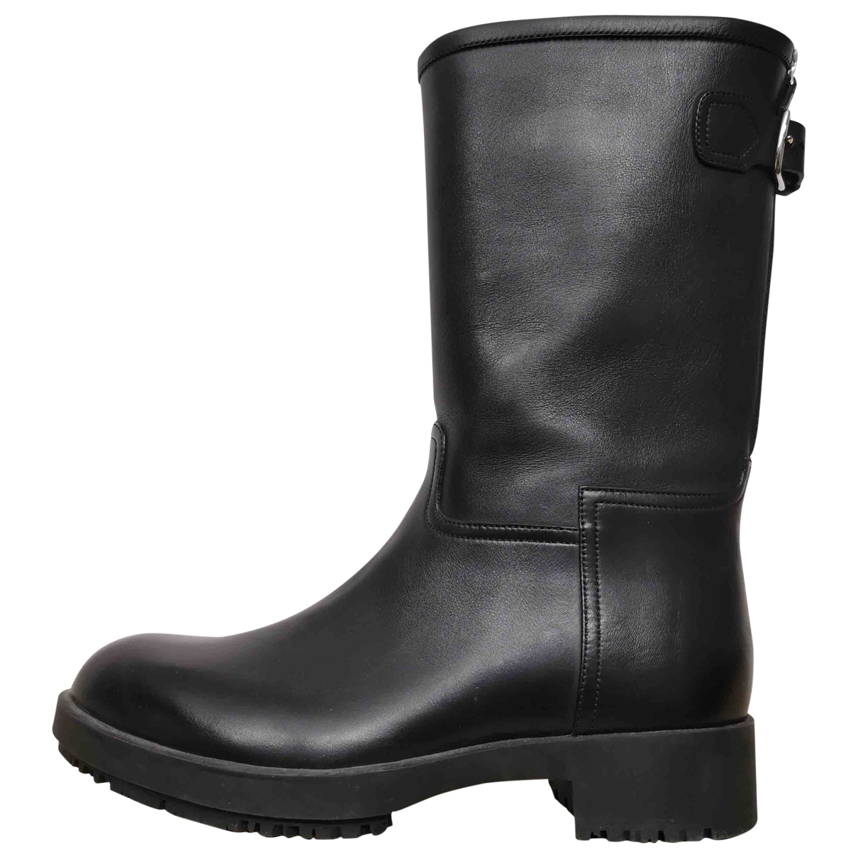Hermès \N Black Leather Ankle boots for Women 37 EU