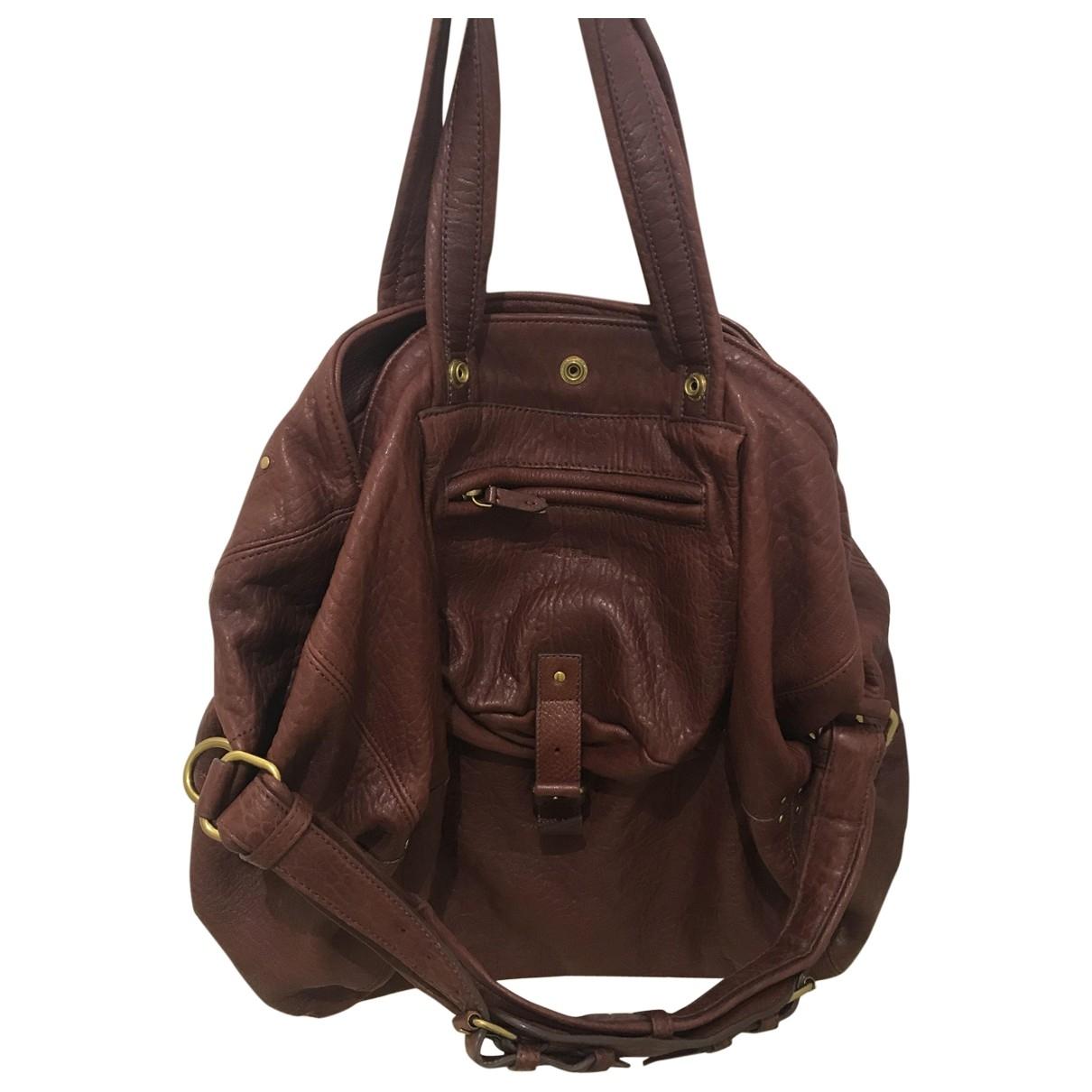 Jerome Dreyfuss Billy Burgundy Leather handbag for Women \N