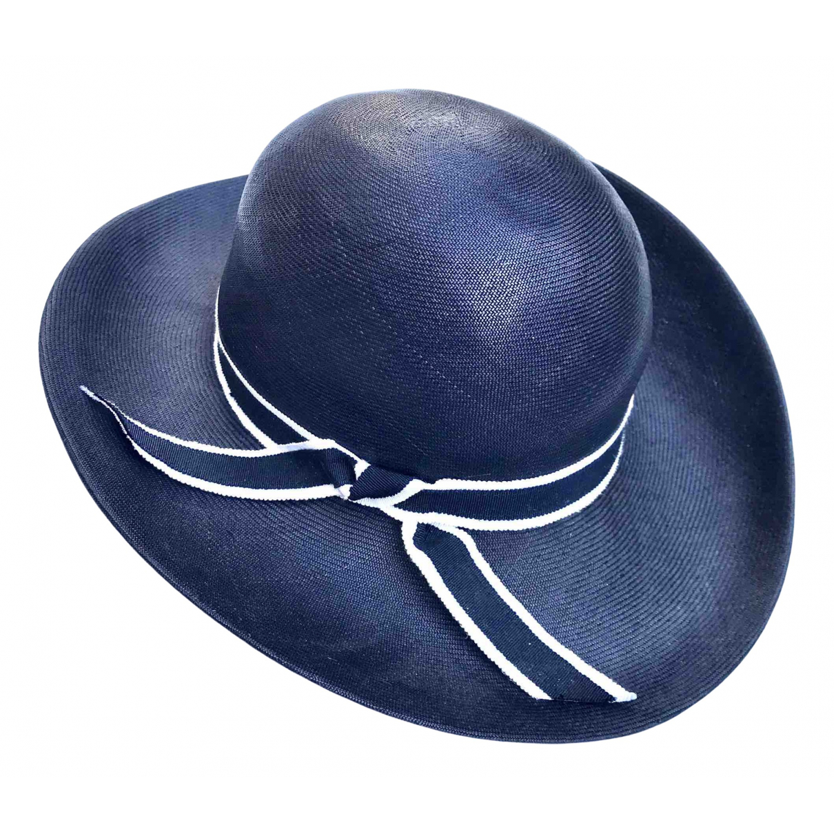 Non Signé / Unsigned \N Navy Wicker hat for Women S International