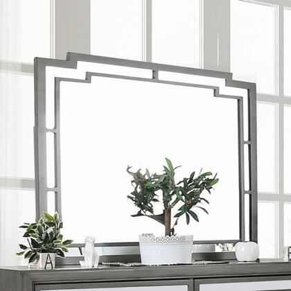 Jeanine CM7534M Mirror with Mirror Panel Inserts and Wooden Frame Construction in