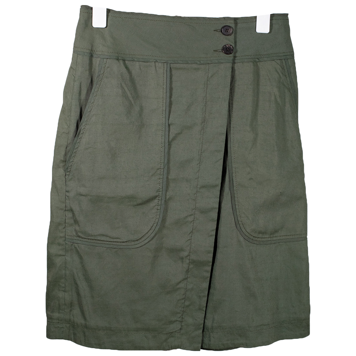 Vanessa Bruno \N Khaki Linen skirt for Women 36 FR