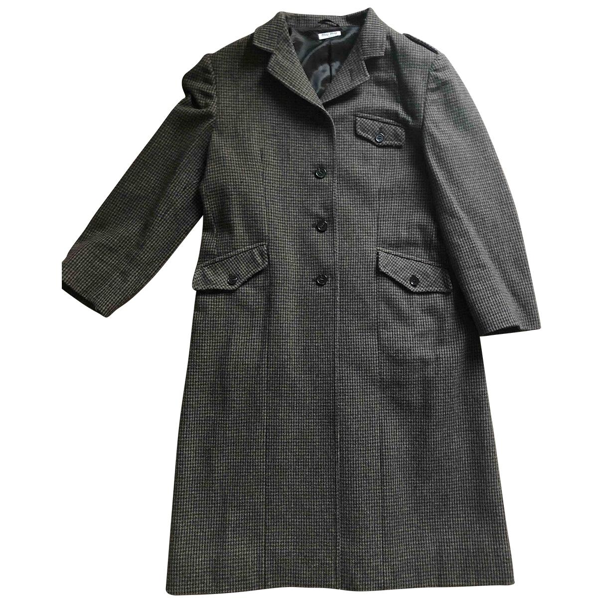 Miu Miu - Manteau   pour femme en cachemire - marron