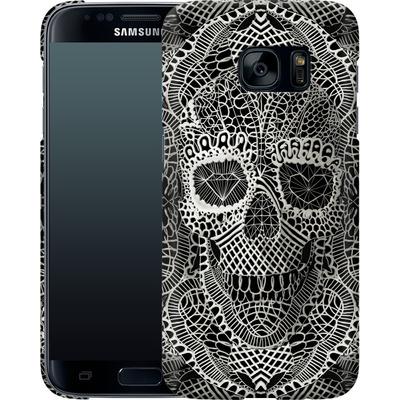 Samsung Galaxy S7 Smartphone Huelle - Lace Skull von Ali Gulec