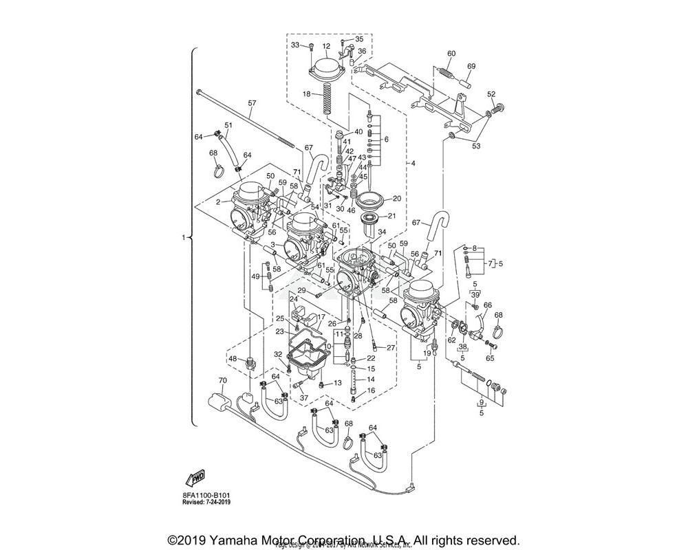 Yamaha OEM 8FA-14141-44-00 NOZZLE, MAIN