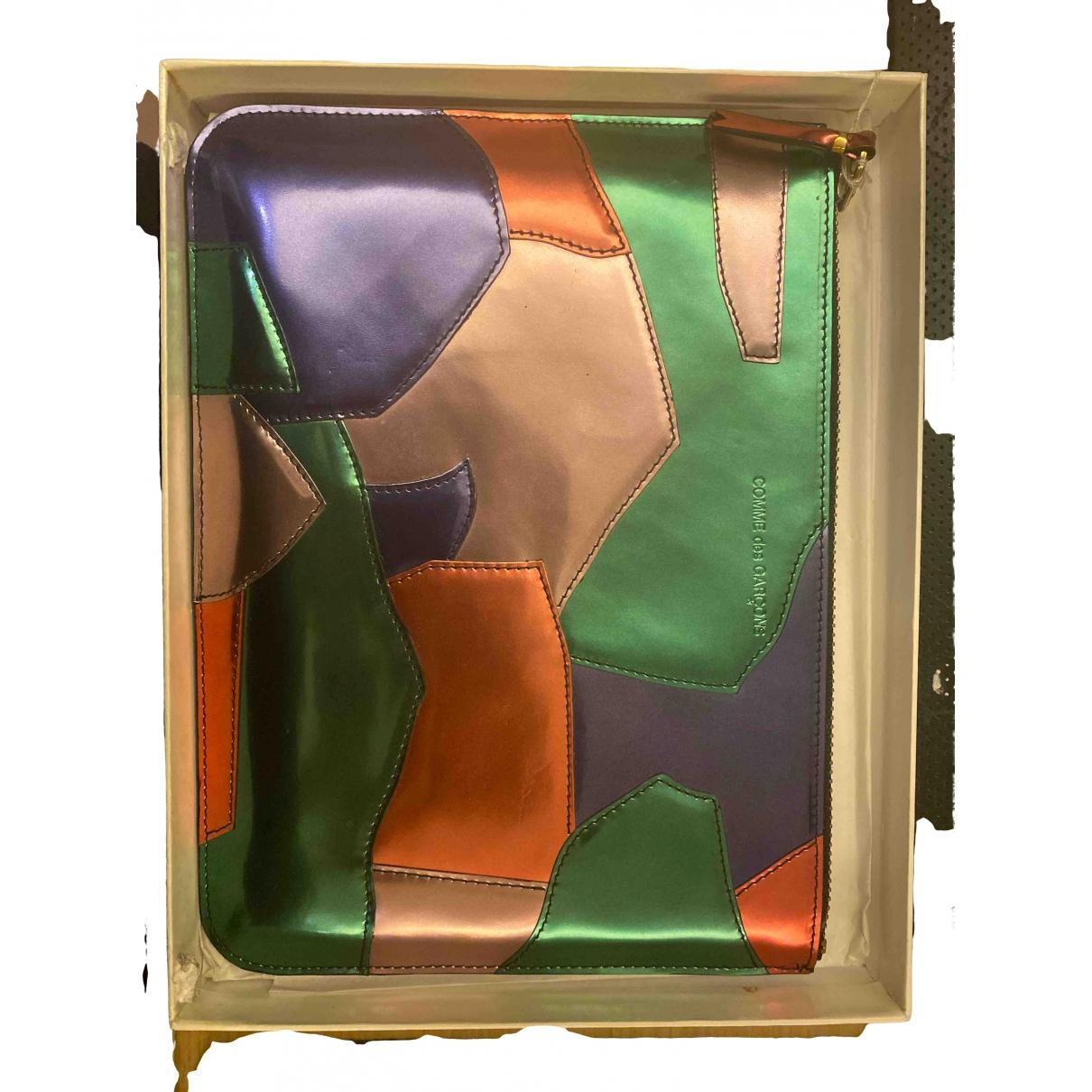 Comme Des Garcons \N Clutch in  Metallic Leder