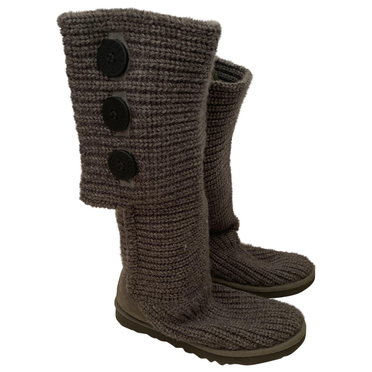 Ugg \N Anthracite Fur Boots for Women 36 EU