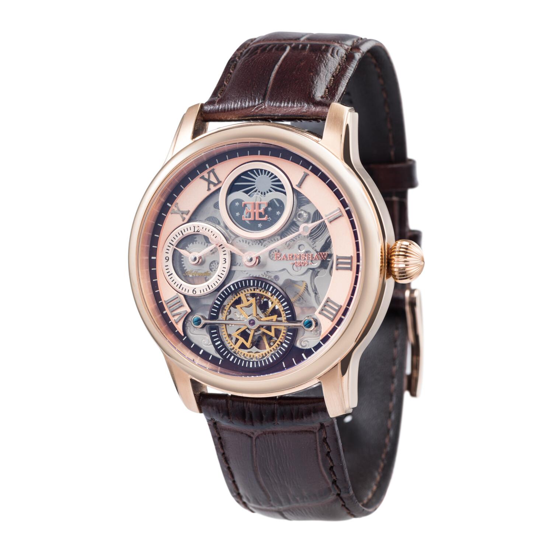 Thomas Earnshaw Men's Longitude Shadow Automatic ES-8063-02 Rose-Gold Leather Self Wind Fashion Watch