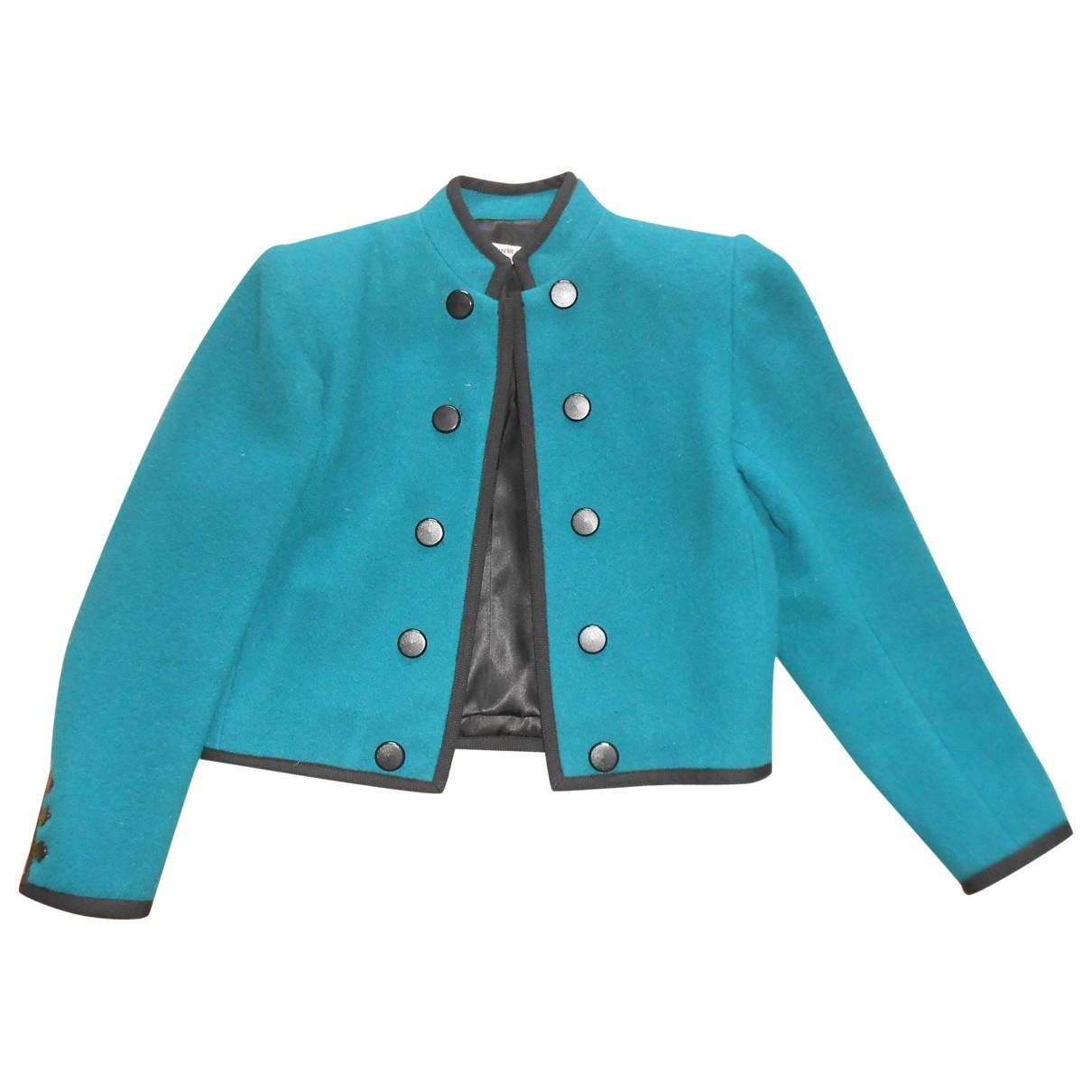 Yves Saint Laurent \N Blue Wool jacket for Women 40 FR