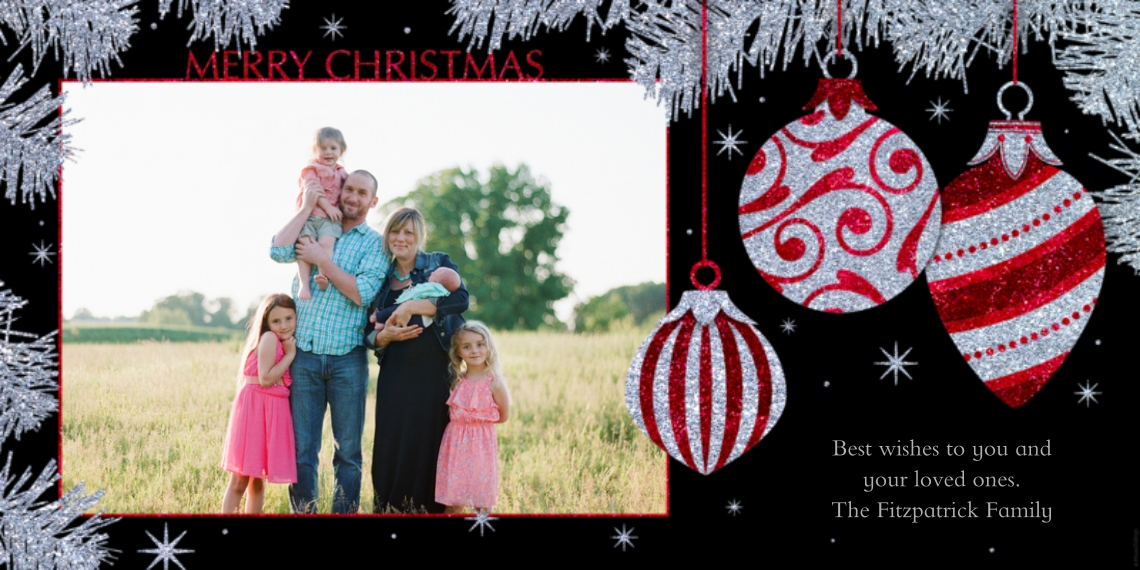 Christmas Photo Cards 4x8 Flat Card Set, 85lb, Card & Stationery -Merry Christmas
