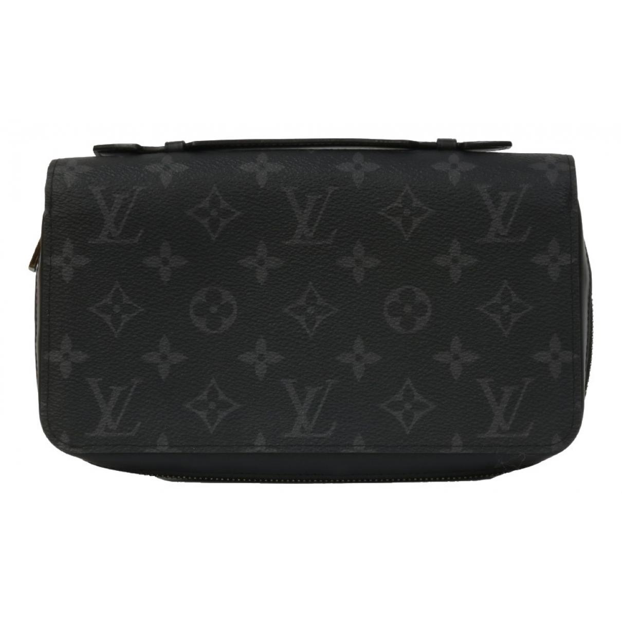 Louis Vuitton - Petite maroquinerie Zippy XL pour homme en toile - anthracite