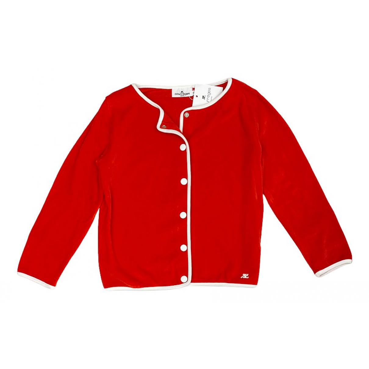 Courreges \N Pullover in  Rot Baumwolle