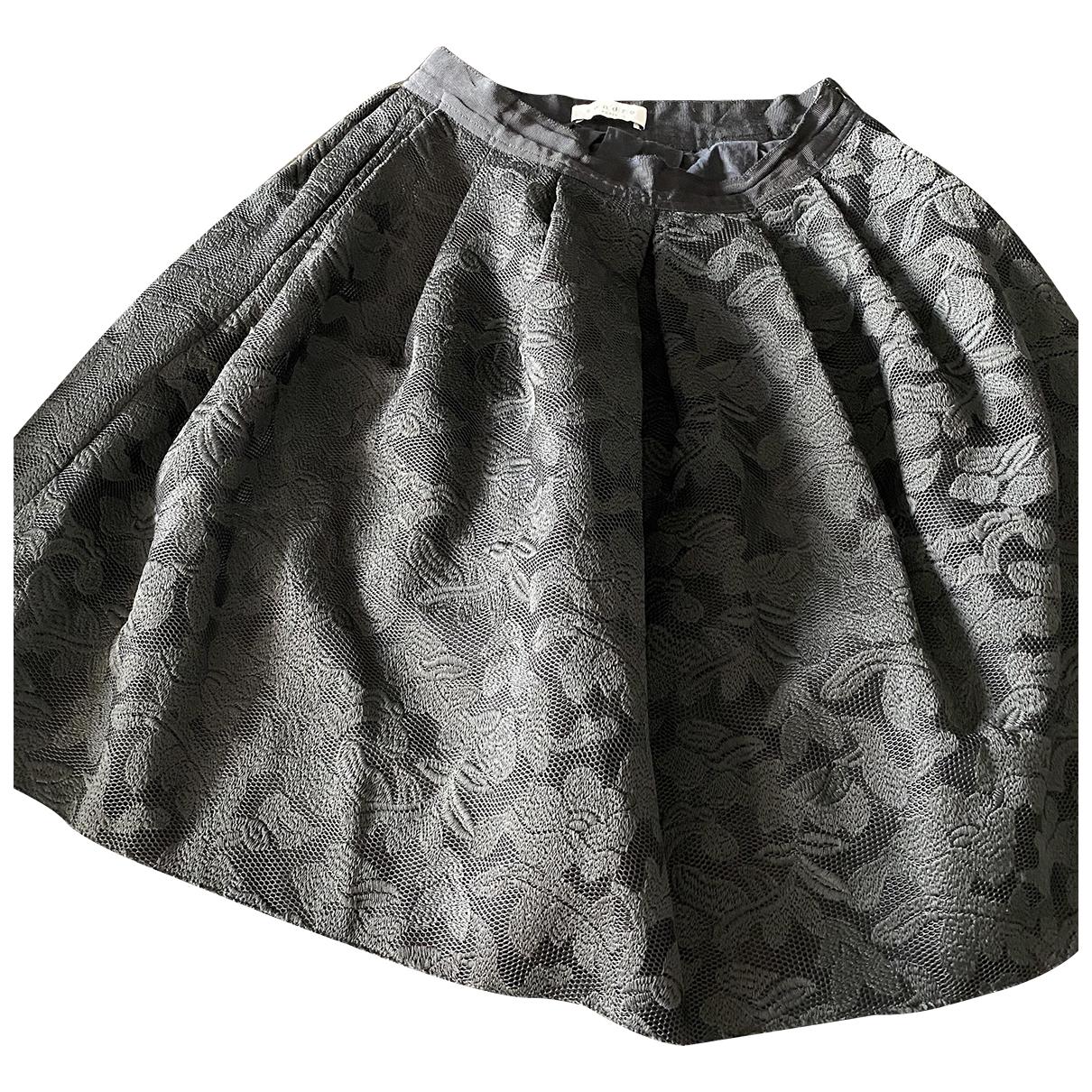 Sandro - Jupe   pour femme en coton - noir