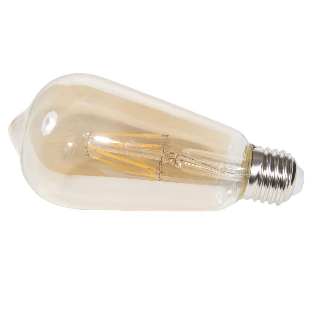 LED-Gluehbirne aus getontem Glas EDISON AMBRE