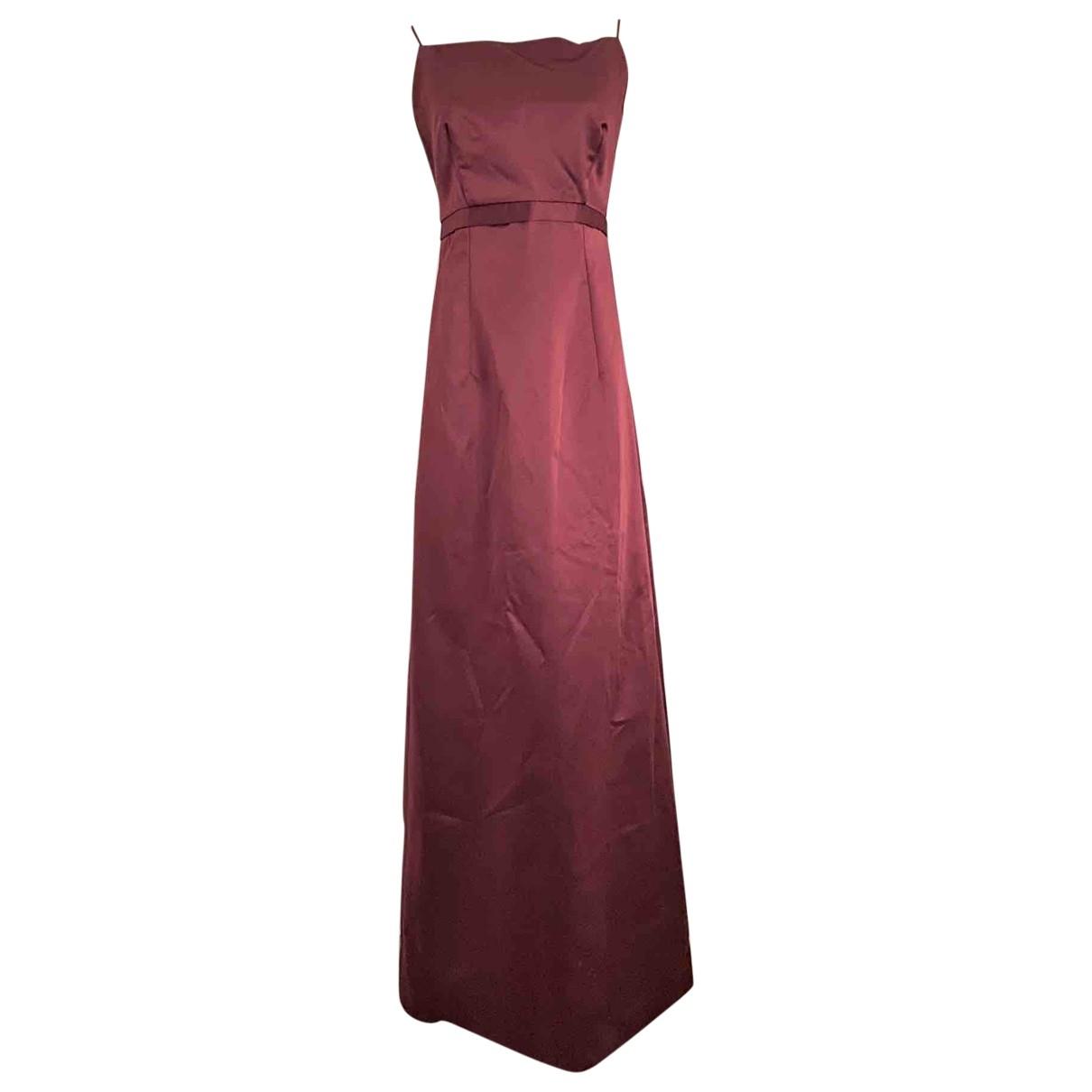 Vera Wang \N Kleid in  Bordeauxrot Synthetik