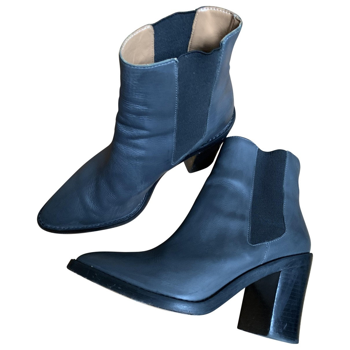 Zimmermann \N Grey Leather Ankle boots for Women 36 EU